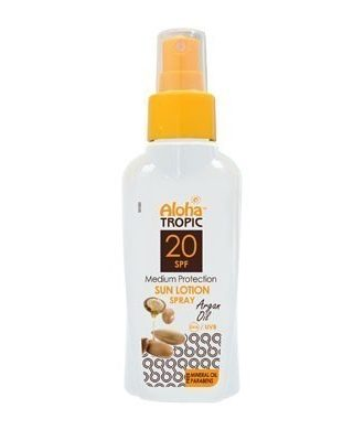 Sun protection lotion with carrot extract for quick, beautiful tan.