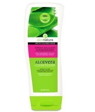 Hair conditioner enriched with active extract of organic Aloe.