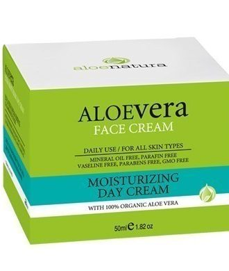 Day cream with drastic moisturizing ingredients, ideal for all skin types.