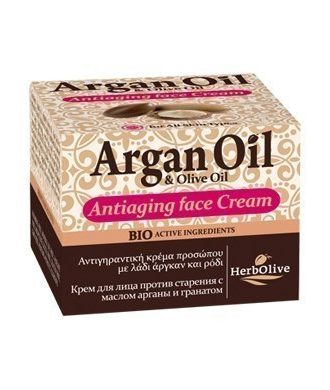 Antiaging face cream with argan oil and pomegranate.