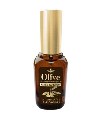 Antiwrinkle and antiaging serum for the face and eyes, with pomegranate and argan oil.
