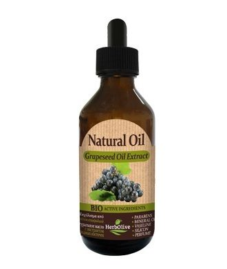 The grapeseed oil is rich in vitamin E, trace elements and fatty acids.