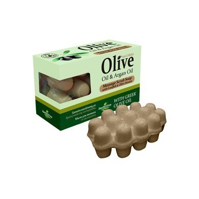 Soap ideal for body massage with olive oil and argan oil. Its exfoliating action, cleanses the pores, revitalizes the skin and leaves it free to breathe.