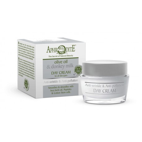 Enriched with precious Cretan organic olive oil, donkey milk and our innovative anti-pollution complex of cotton stem cells and moringa peptides, this ultra-nourishing formula strengthens your skin's natural defense system leaving it smooth and supple.