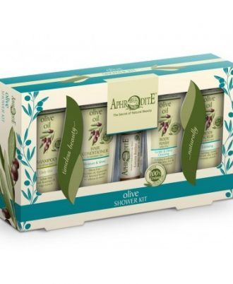 Conveniently packaged, Aphrodite shower kit is the perfect travelling companion.