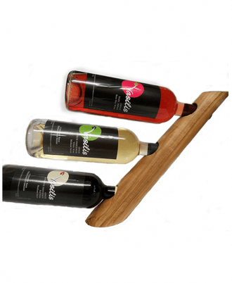This Impressive Portable Countertop or Table Accessory is Perfect for Your Home or Office to Store – Display your up to 3 Wine / Liquor / Beverage Bottles.