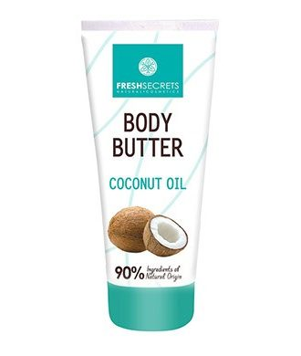 Body Butter with nourishing coconut oil and moisturizing ingredients.