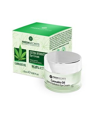 Eye cream with ingredients that have moisturizing and anti-wrinkle action.