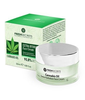 Face cream with ingredients that have moisturizing and antioxidant action.