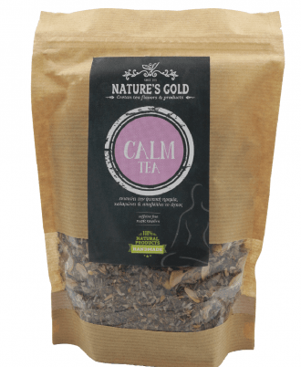 Calm tea is a blend of Cretan herbs with calming and soothing properties, which enhsnce physical and mental well-being.