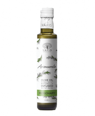 Vafis Rosemary with extra virgin olive oil is infused with real, fresh, local ingredients and contain no additives, preservatives or artificial flavours.