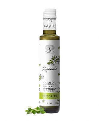 Vafis Oregano with extra virgin olive oil is infused with real, fresh, local ingredients and contain no additives, preservatives or artificial flavours.