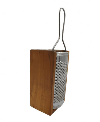 OLIVE WOOD CHEESE GRATER WITH STORAGE COMPARTMENT FOR GRATED CHEESE