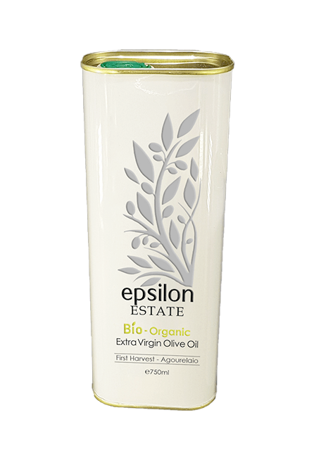 Excellent organic olive oil, produced in organic olive groves in Crete, Greece.